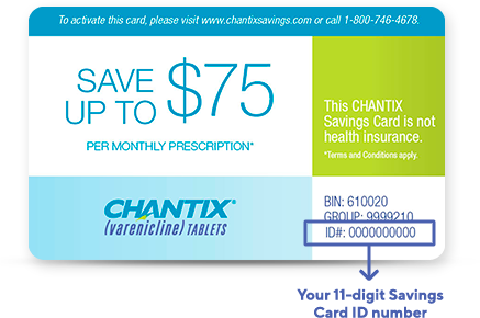 photograph about Chantix Printable Coupons referred to as Start out Preserving Upon CHANTIX® CHANTIX® (varenicline) Web-site